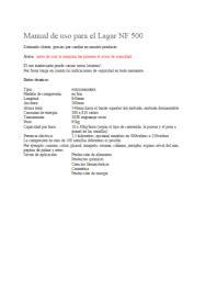Manual de uso español