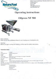 NF 500 operation manual