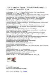 18 Schichtenfilter-Pumpe Technische Beschreibung
